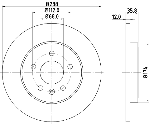 Тормозной диск MINTEX MDC2162