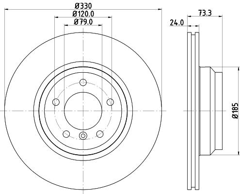 Тормозной диск MINTEX MDC1732