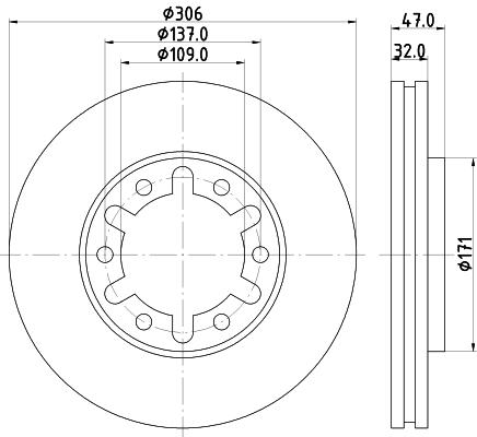 Тормозной диск MINTEX MDC1509