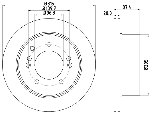Тормозной диск MINTEX MDC1798