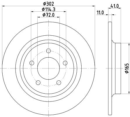 Тормозной диск MINTEX MDC2202