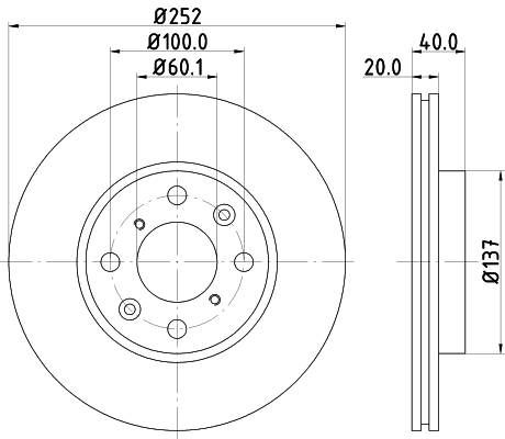Тормозной диск MINTEX MDC1756
