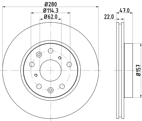 Тормозной диск MINTEX MDC1822