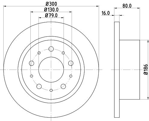 Тормозной диск MINTEX MDC2058