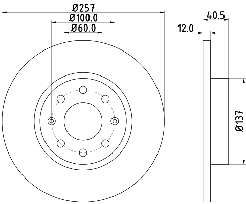 Тормозной диск MINTEX MDC1838