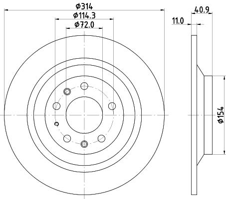 Тормозной диск MINTEX MDC2027
