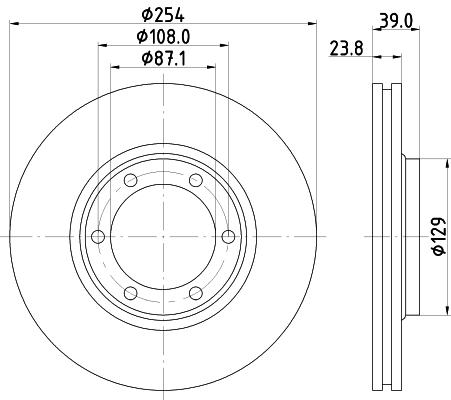 Тормозной диск MINTEX MDC2016