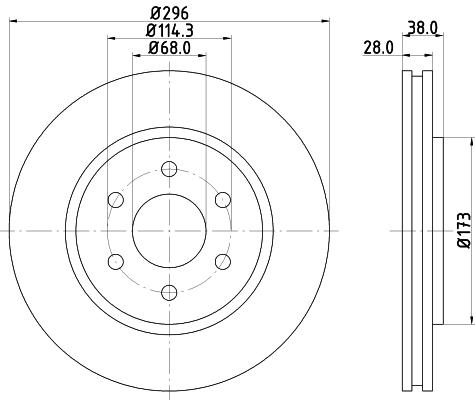 Тормозной диск MINTEX MDC2163