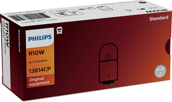 Лампа накаливания, фонарь освещения номерного знака PHILIPS 13814 CP