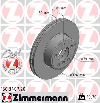Тормозной диск MINTEX арт. 150.3407.20