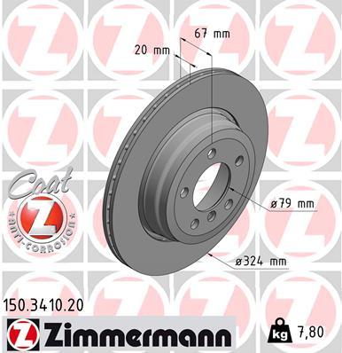 Тормозной диск MINTEX арт. 150.3410.20
