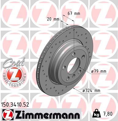 Тормозной диск MINTEX арт. 150.3410.52