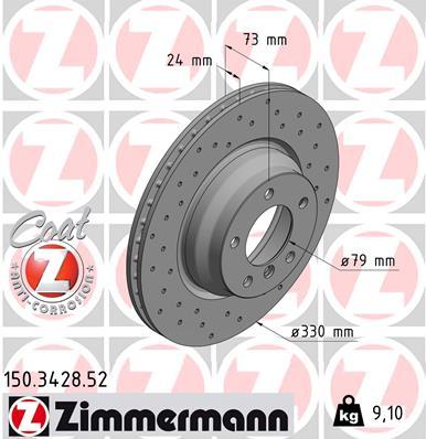 Тормозной диск MINTEX арт. ZI 150.3428.52