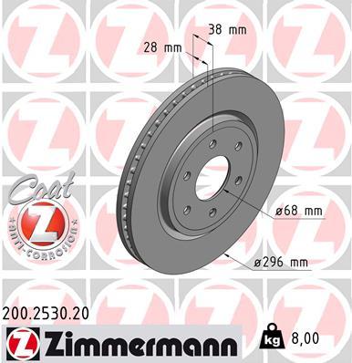 Тормозной диск MINTEX арт. ZI 200.2530.20