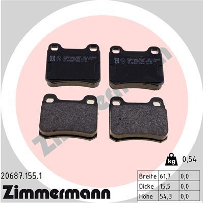 Тормозные колодки задние дисковые MINTEX арт. 206871551