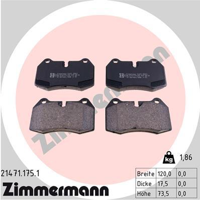 Тормозные колодки передние дисковые MINTEX арт. 214711751