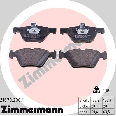 Тормозные колодки передние дисковые MINTEX арт. 21670.200.1