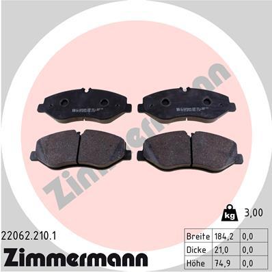 Тормозные колодки дисковые MINTEX арт. ZI 22062.210.1