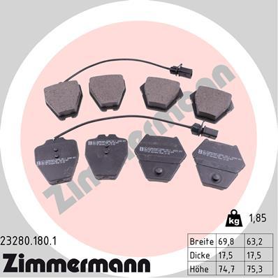 Тормозные колодки дисковые MINTEX арт. 23280.180.1