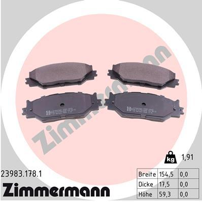 Тормозные колодки дисковые MINTEX арт. ZI 23983.178.1