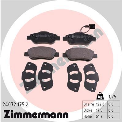 Тормозные колодки дисковые MINTEX арт. ZI 24072.175.2
