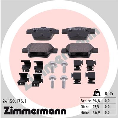 Тормозные колодки дисковые MINTEX арт. 24150.175.1