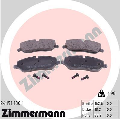 Тормозные колодки дисковые MINTEX арт. ZI 24191.180.1