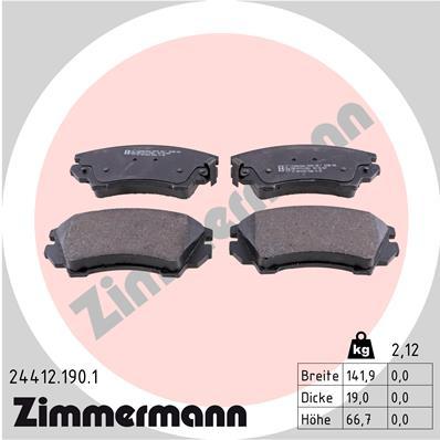 Тормозные колодки передние дисковые MINTEX арт. 244121901