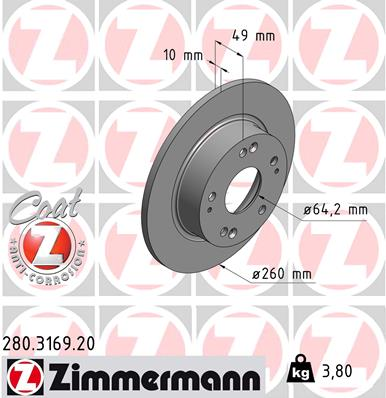 Тормозной диск MINTEX арт. 280316920
