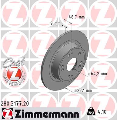 Тормозной диск MINTEX арт. 280.3177.20