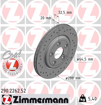 Тормозной диск MINTEX арт. ZI 290.2262.52