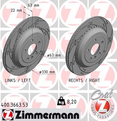 Тормозной диск MINTEX арт. ZI 400.3663.53