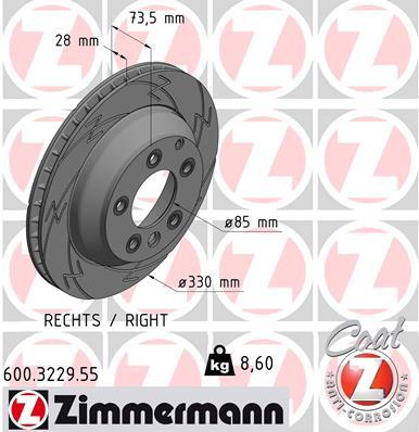 Тормозной диск MINTEX арт. ZI 600.3229.55