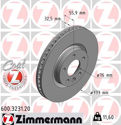 Тормозной диск MINTEX арт. 600.3231.20
