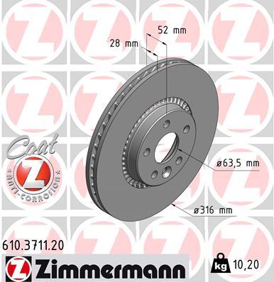 Тормозной диск MINTEX арт. 610371120