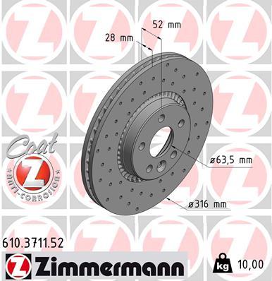 Тормозной диск MINTEX арт. 610371152