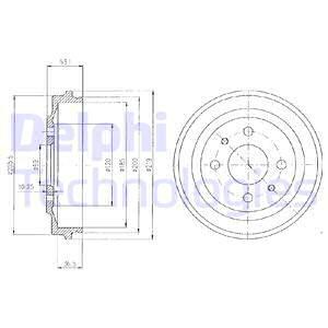 Тормозной барабан MINTEX арт. BF136