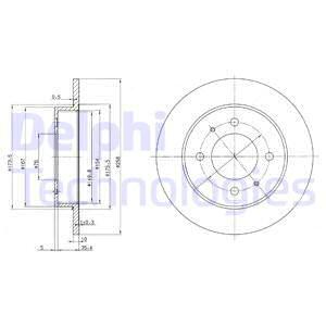 Тормозной диск MINTEX арт. BG3070
