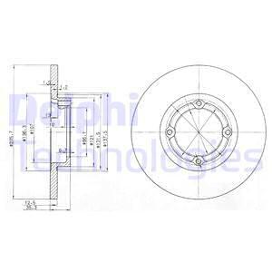 Тормозной диск передний MINTEX арт. BG3551