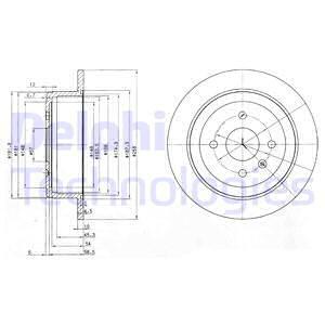 Тормозной диск MINTEX арт. BG3615