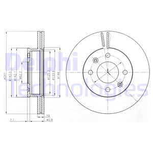 Тормозной диск MINTEX арт. BG4009
