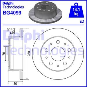 Тормозной диск MINTEX арт. BG4099