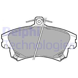 Тормозные колодки дисковые MINTEX арт. LP1398