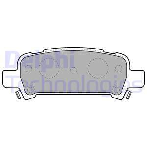 Тормозные колодки дисковые MINTEX арт. LP1509
