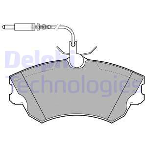 Тормозные колодки передние дисковые MINTEX арт. LP1614