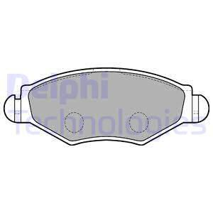 Тормозные колодки дисковые MINTEX арт. LP1699