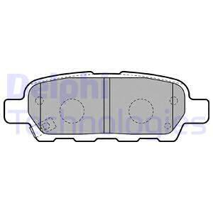 Тормозные колодки задние дисковые MINTEX арт. LP1807