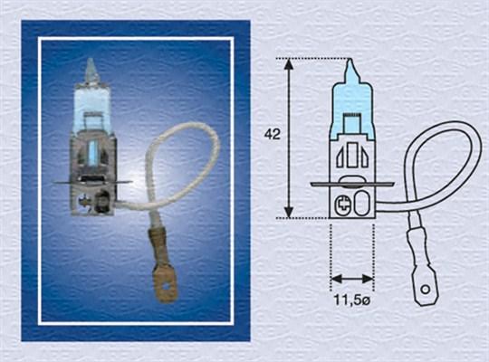 Лампа накаливания, противотуманная фара PHILIPS арт. 002604100000