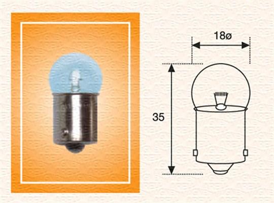Лампа накаливания, фонарь освещения номерного знака PHILIPS арт. 004009100000