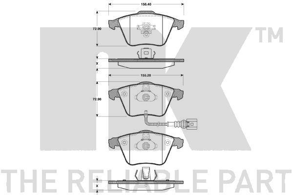 Тормозные колодки дисковые MINTEX арт. 2247110